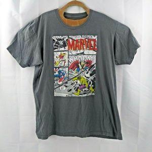We Love Fine Marvel Mens XL Gray T Shirt Comic Str